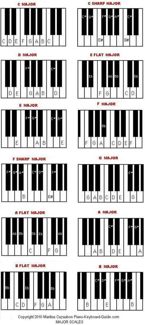 musical notes scale diagram diagram of scales on the piano free printable