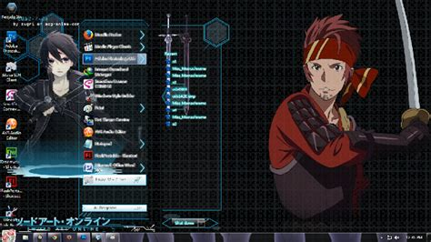 themes for windows 7 online theme win 7 sword art online theme anime windows