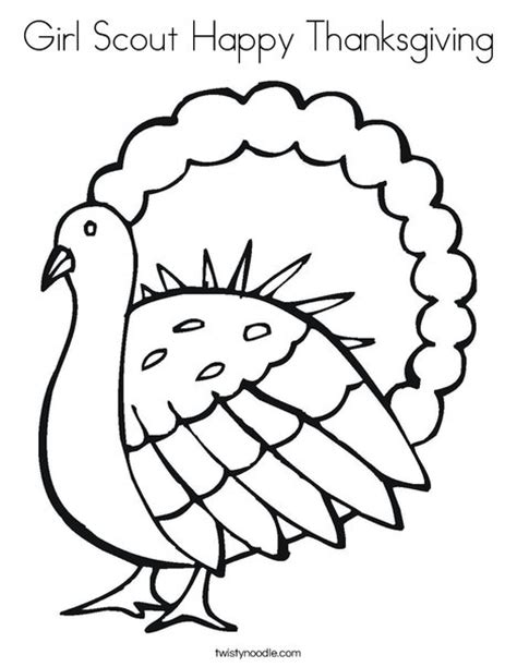 girl turkey coloring page girl scout happy thanksgiving coloring page twisty noodle
