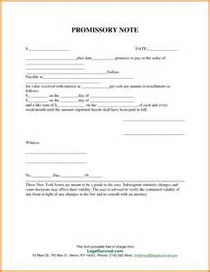 Free Promissory Note Template by 7 Promissory Note Template Free Itinerary Template Sle