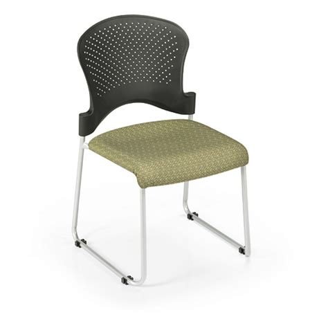 Padded Stackable Chairs by Office Master St200c Stacking Guest Chair Padded Fabric Seat
