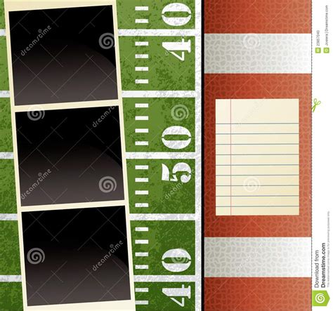 powerpoint scrapbook template football scrapbook template stock photo image 23857040