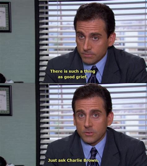 Office Yearbook Quote Brown Grief Michael Quote Image