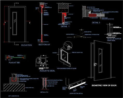Sound Proof Door Dwg Section For Autocad Designs Cad