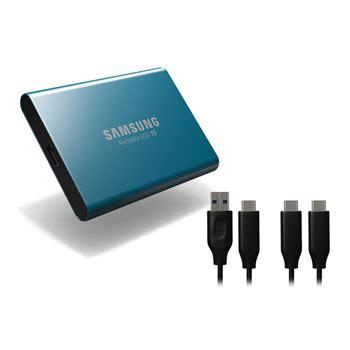 samsung 500gb t5 usb 3 1 type c portable external ssd blue ln83902 mu pa500b eu scan uk