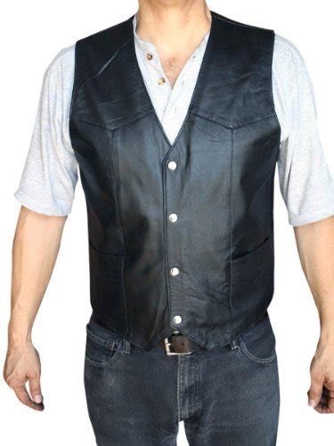 Dona Vest dona michi s motorcycle vest genuine soft leather black syle 950 extra large for sale