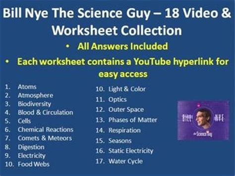 bill nye light optics worksheet answers 1000 images about bill nye the science guy on pinterest