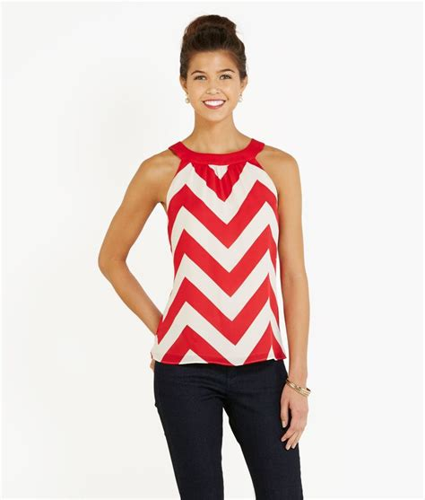 womens holidays women s tops holiday chevron sleeveless top for women