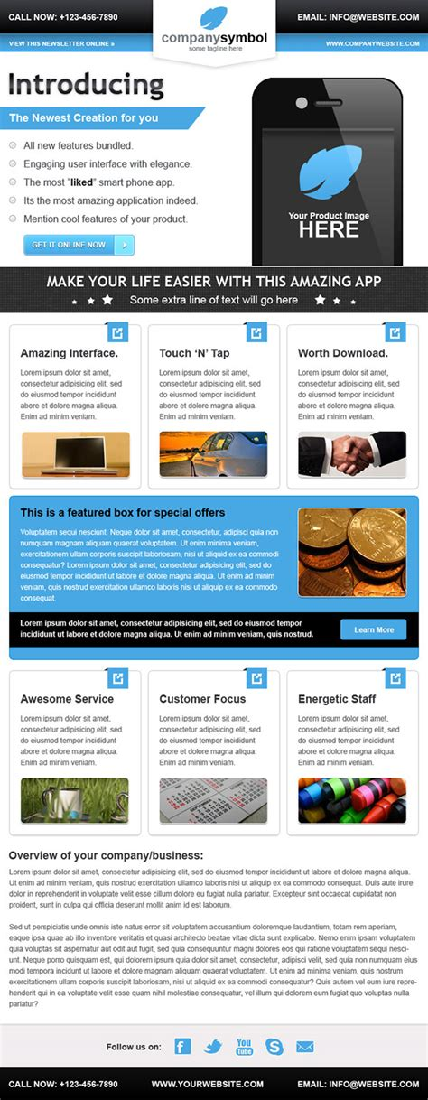 Business Email Newsletter Template On Behance E Newsletter Templates Microsoft