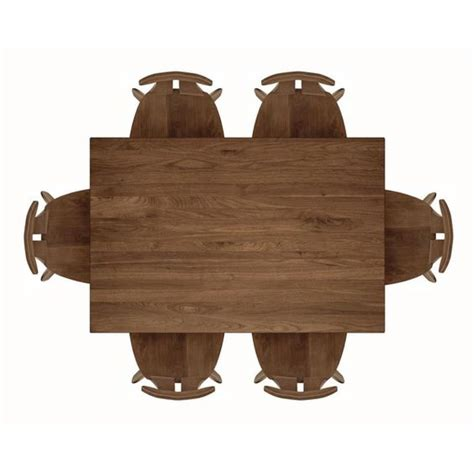 copeland furniture dining table top view front