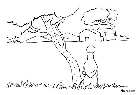 villager coloring page indian village people coloring pages pitara kids network