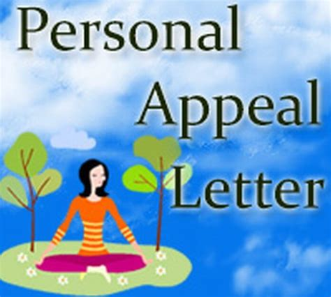 Personal Appeal Letter appeal letter