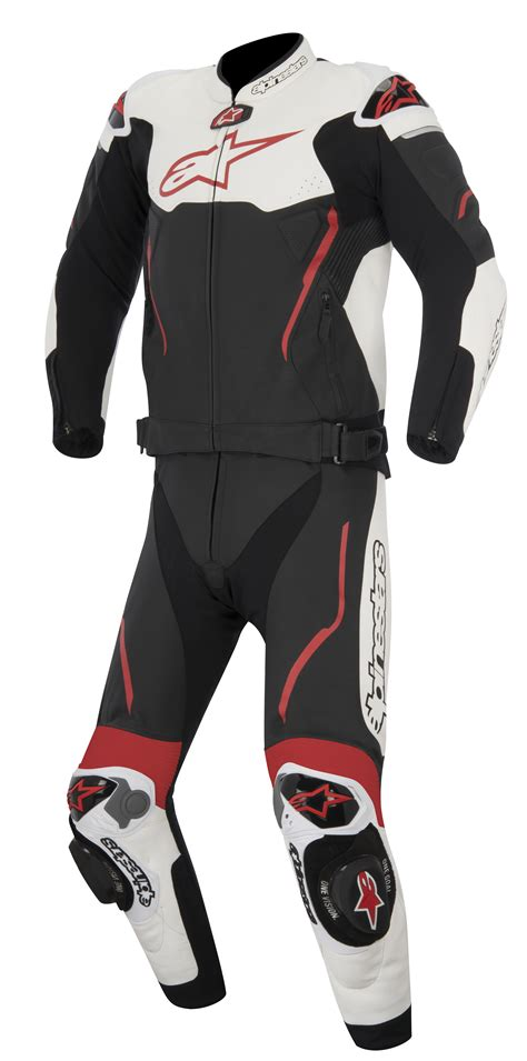 Atem V3 Leather Jacket alpinestars atem mens 2 leather suit black white cad 1 628 90 picclick ca