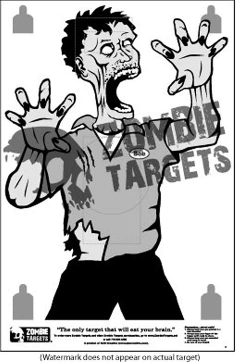 printable zombie gun targets 4 best images of zombie targets printable version obama