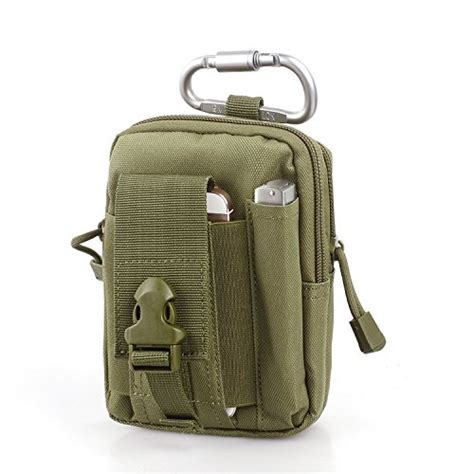 compact multi purpose tactical molle edc utility gadget pouch tools waist bag pack oliver green
