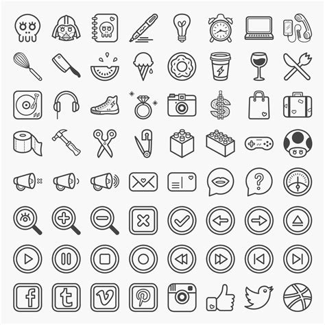 pattern filetype ai coucou is a set of 64 fun and quirky icons available in