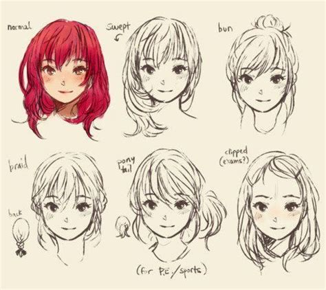 hairstyles of anime anime hairstyles anime references pinterest anime