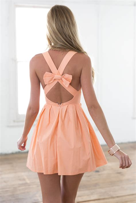 open cross back dress with bow at nygirl sims 187 sims 4 updates light orange sleeveless mini dress with open cross bow back