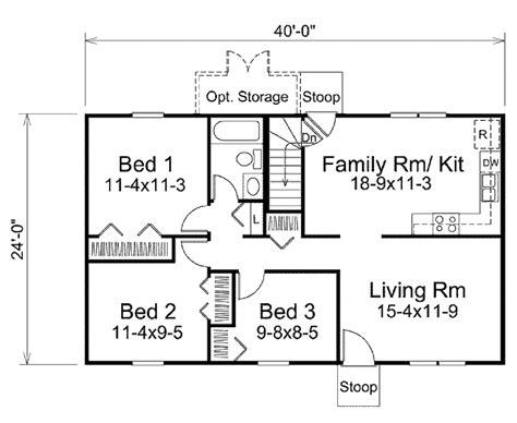 800 sq ft house plans 3 bedroom ranch style house plan 3 beds 1 00 baths 960 sq ft plan 57 465