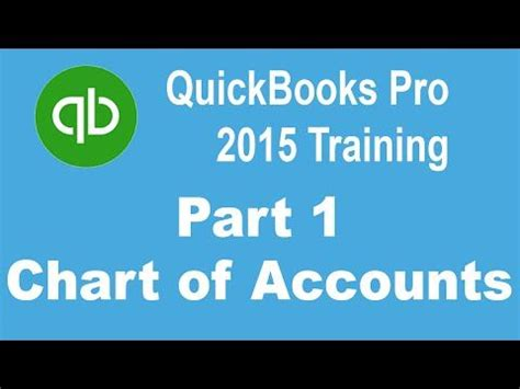 quickbooks accounting tutorial youtube quickbooks pro 2015 tutorial setting up the chart of