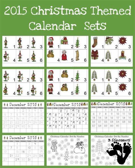 printable calendar numbers patterns free 2015 christmas calendar printables 2 types of elves