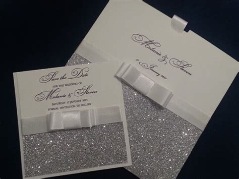 Wedding Invitations Glitter by Silver Glitter Wedding Invitations Handmade Invitations