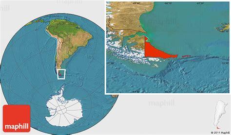 tierra del fuego satellite location map of tierra del fuego