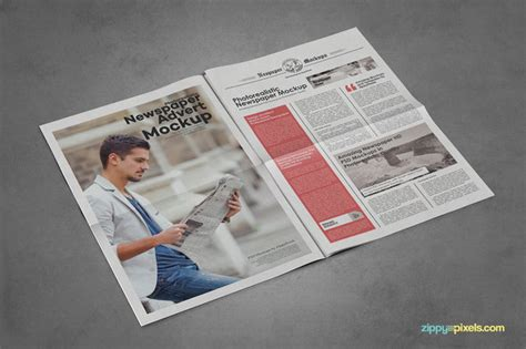 20 best newspaper advertisement mockup psd templates
