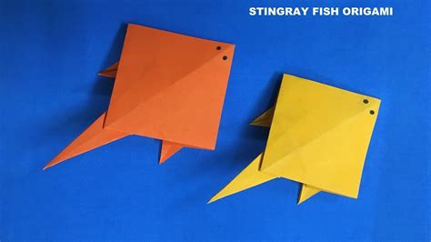 sting paper crafts stingray fish origami tutorial easy crafts