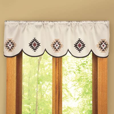 southwest curtains and valances southwest aztec scalloped window valance from collections etc