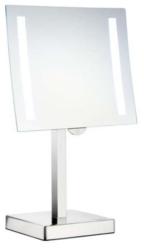 Freestanding Bathroom Mirrors Smedbo Freestanding Led Light Make Up Mirror Contemporary Bathroom Mirrors By