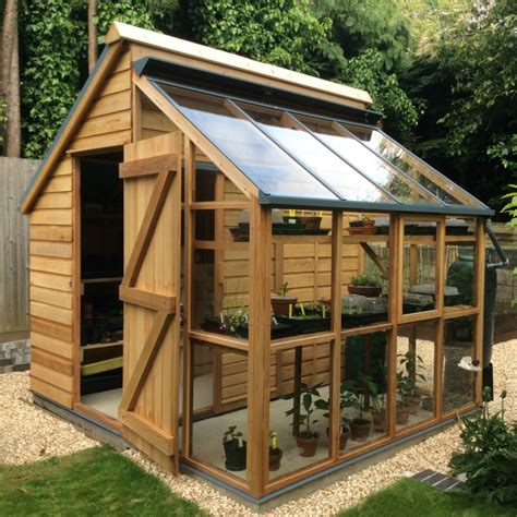 backyard shed plans diy greenhouse storage shed combi from greenhousemegastore com