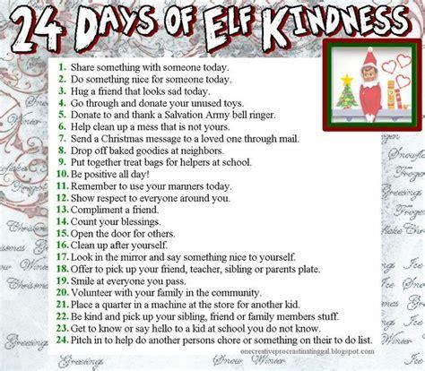 printable kindness elf ideas 89 best random acts of christmas kindness ideas images on