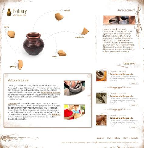 pottery templates free web templates 786 free premium flash website template