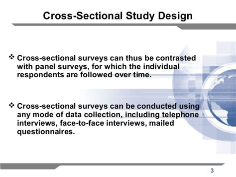 what is the meaning of cross sectional study cross sectional study design images