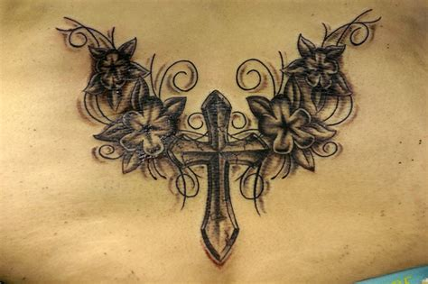 lower back cross tattoos u cross tattoos for
