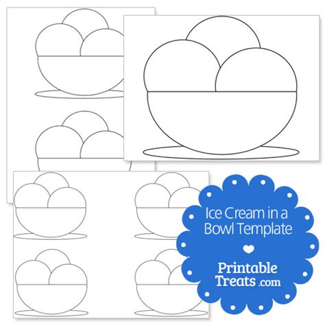 multiplication sundae template 9 best images of printable bowl bowl