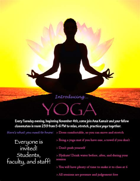 yoga flyer by draconistheory on deviantart