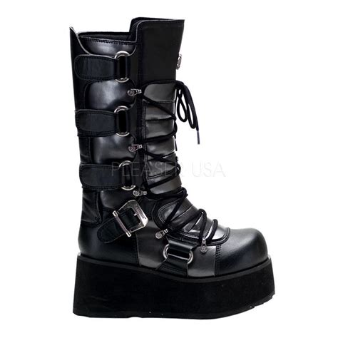 demonia boots for demonia trashville 519 cyber black grey