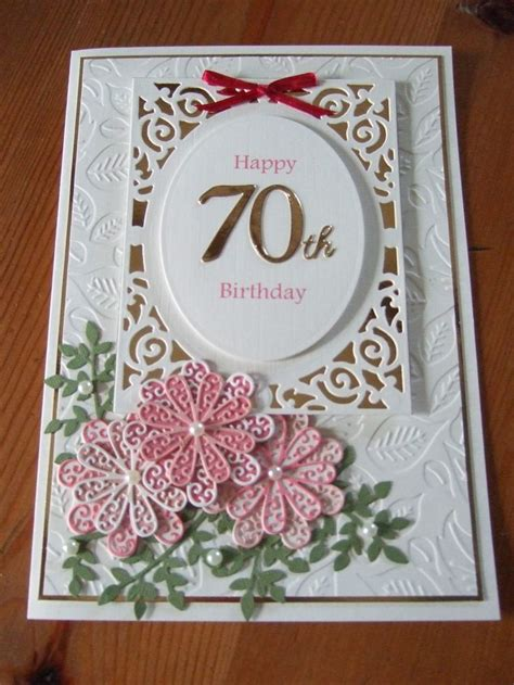 Handmade 70th Birthday Cards - 54 best images about tattered lace cards on