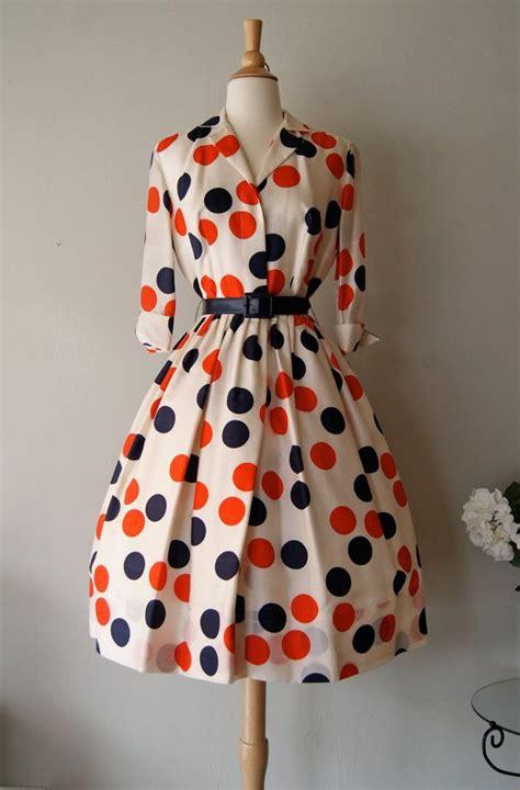 Dot Dress fabulous 1950 s silk polka dot print dress by miss white and blue dots shirtwaist