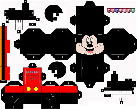 Mickey Mouse Papercraft - cubeecraft pikachu car interior design