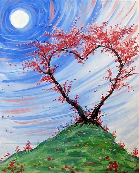 paint nite tree paint nite tree blossoms