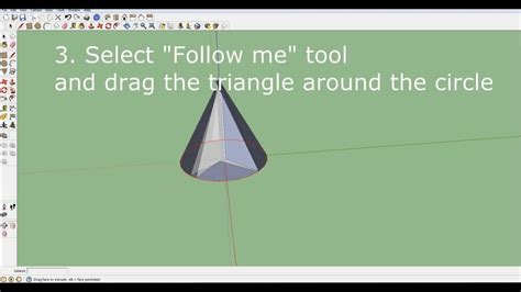 tutorial google sketchup 8 español how to make a cone in sketchup 8 youtube