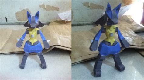 Lucario Papercraft - lucario papercraft by shiroikoumori on deviantart