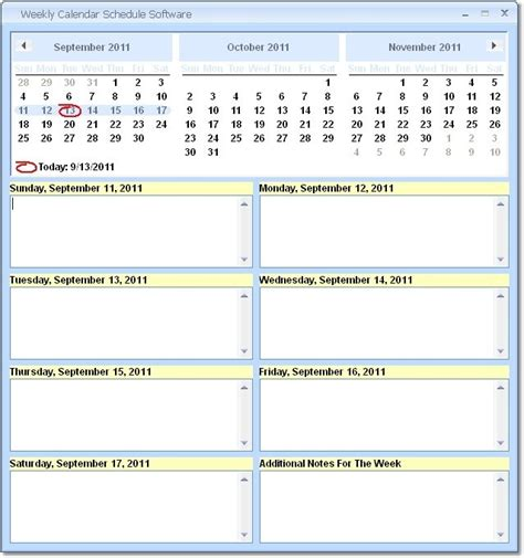 publisher weekly calendar templates software