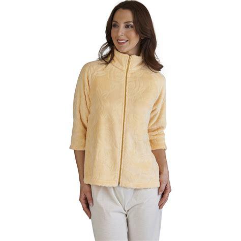 bed jackets for ladies rose jacquard bed jacket slenderella ladies zip up womens