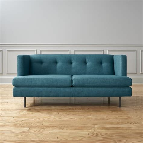 cb2 peacock sofa avec apartment sofa tess peacock cb2