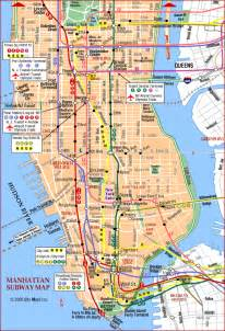New York Subway Map With Streets by New York City Street Map With Subway Stops