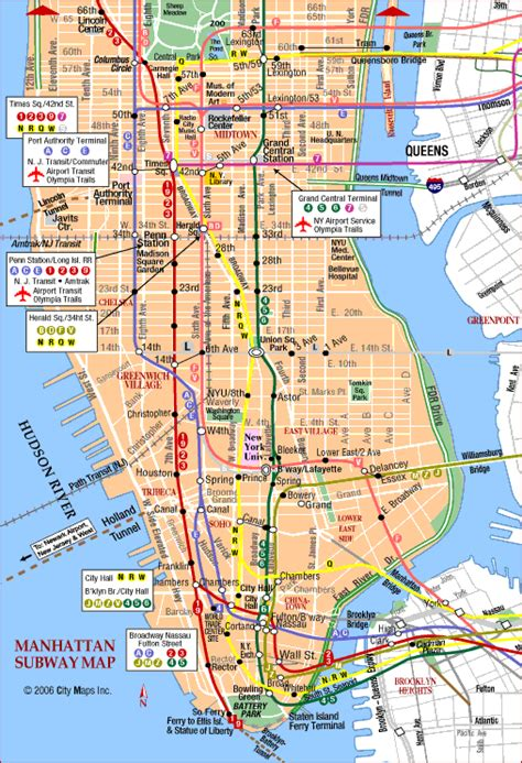manhattan city map manhattan subway map pics map of manhattan city pictures